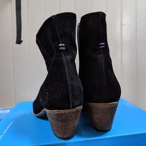 John Fluevog Milla Suede Ankle Boots